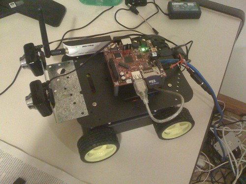 Stereo vision robot taking shape I wish the wireless drivers on beagle were easier - ralink 2870 meh