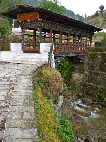 The bridge to Trongsa Dzong