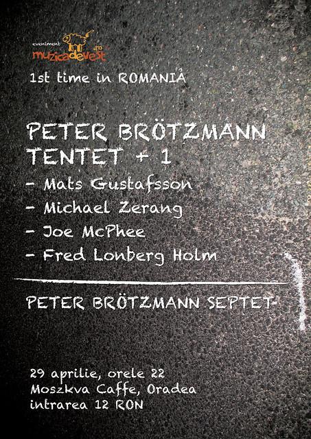 Peter Brötzmann şi ZU la Oradea