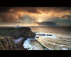 Looking West Stoer (angus clyne) Tags: uk light sunset shadow sea summer cliff sun lighthouse fish seascape storm west green castle water rain hail squall dark lens point island shower gold drive climb coast scotland highlands ship angle wind angus head path walk farm south north wide scottish wave spray east shore land sail breeze minch beech clyne stoer colorphotoaward canon5dmarkii