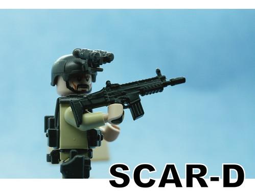 Custom minifig SCAR custom minifig gun