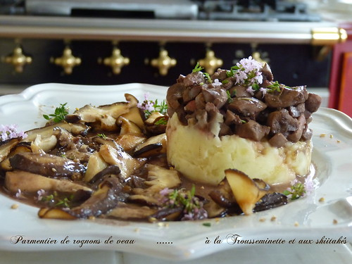 parmentier de rognons de veau à la Trousseminette et aux shiitakés