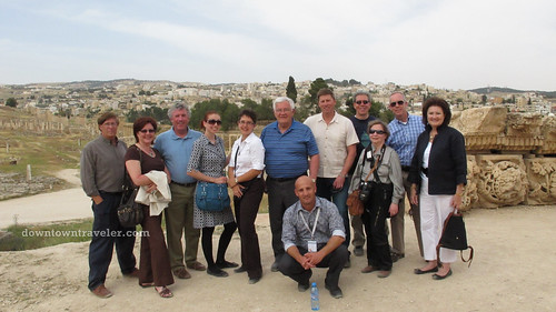 US tourism delegation in Jerash Jordan