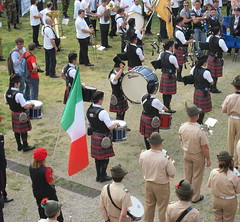 Together (Rosmarie Wirz) Tags: italy caravaggio 25thaprilcelebrations scottishkilt orobianpipeband