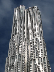 Frank Gehry in New York (livinginacity) Tags: new nyc newyorkcity newyork building tower art architecture modern buildings contemporary surreal gehry architect condo architects frankgehry  architettura condominium frankogehry       my arkitect  arkitekture  arkitecten a