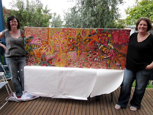Camille, Me and One Very Large Painting
