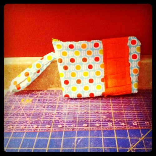 All done....clutch for my orange dress