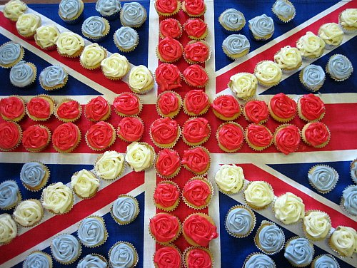Cup cake flag