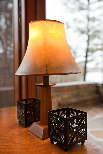 Wright Inspired Accessories at Seth Peterson Cottage on Mirror Lake, Wisconsin