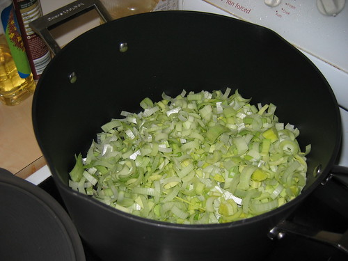 Leeks in the pot