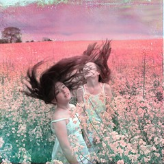 Pink Field Anthem ('_ellen_') Tags: pink flowers trees ireland girls sky flower green hair happy freedom blossoms wexford artweise ellenmcdermott voicesofearth