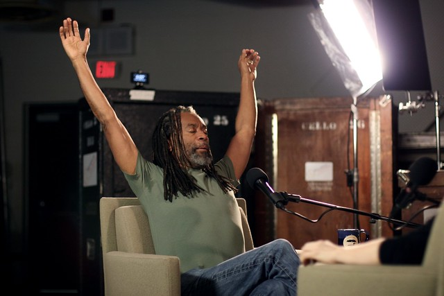 Bobby McFerrin Stretching Prior to Interview