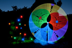 Additive Color Wheel (TxPilot) Tags: longexposure light lightpainting art night painting photography lights graffiti star nikon long exposure paint bright led lap lighttrails movinglights lightgraffiti starburst microcontroller arduino elwire lightpaint lightemittingdiode lightstrip electroluminescentwire d700 lightgraf lightartphotography arduinomega hl1606 programmablergbledlightstrip programmablelightstrip rgbledaddressable digitallightwand