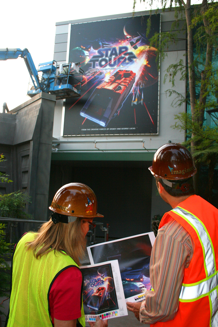 The marquee is installed at Disney's Hollywood Studios - May 4, 2011