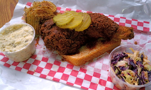 Hot fried chicken from Cackalack's