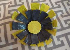 Faux Enamel Flower Pin