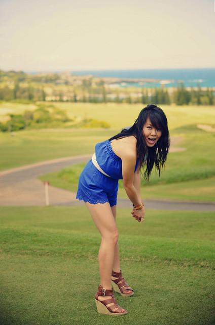 Golfin' in heels