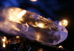 Fire and Ice (Elrenia_Greenleaf) Tags: macro silver gold shiny bokeh things jewellery quartz gems