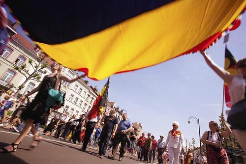 Bruxelles - Manifestation pour une Belgique Unie