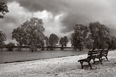 Before the Storm (Scriblerus) Tags: sky blackandwhite bw storm weather clouds memphis tennessee mississippiriver mudisland