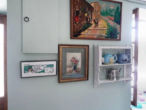 Shelves and teapots