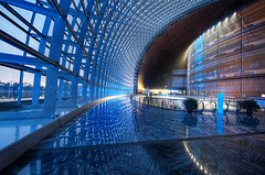 Inside the Egg (Stuck in Customs) Tags: china city travel blue glass metal architecture modern digital photography design blog high october shiny asia republic postmodern dynamic stuck steel interior beijing corridor east photoblog software dome processing metropolis imaging  prc operahouse passage northern titanium range shining hdr tutorial trey peking travelblog customs 2010 theegg municipality bijng paulandreu ratcliff ncpa northernchina nationalgrandtheatre ellipsoid hdrtutorial stuckincustoms  treyratcliff photographyblog peoplesrepublicofchina stuckincustomscom  nationalcentrefortheperformingarts nikond3x gujidjyun