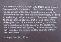 (France-♥) Tags: sculpture canada metal vancouver bc harbour douglascoupland orcawhale digitalorca