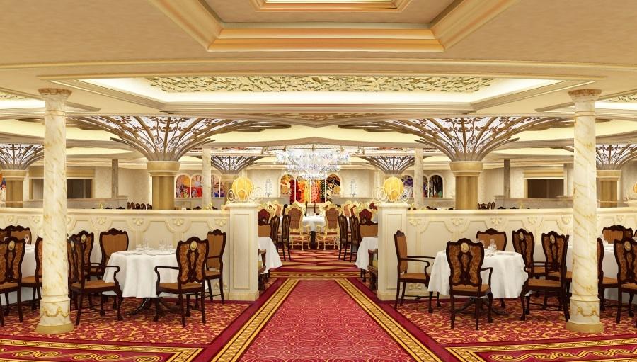 Royal Court Restaurant on board the Disney Fantasy