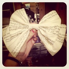The first bow I've ever sewn in my life