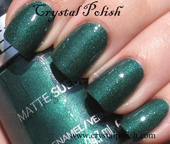 Revlon Emerald City with topcoat (CrystalPolish) Tags: green drugstore emeraldcity matte shimmer revlon mattesuede