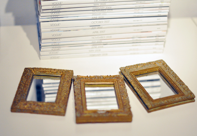 small mirrors with gold frames