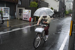 Kyoto Bicycle Rainy Day