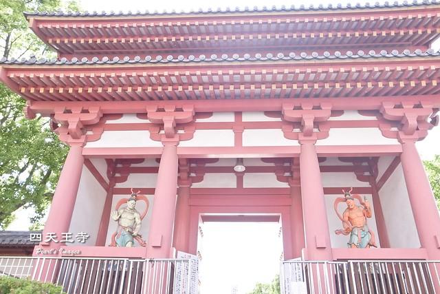 四天王寺東大門的兩位金剛力士