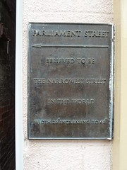 Photo of Parliament Street bronze plaque