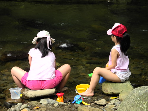 Girls in the Stream  (by Queenie)
