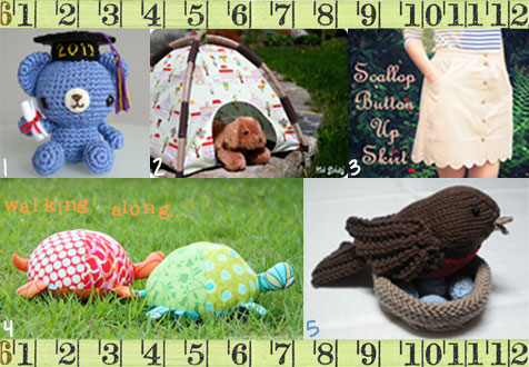 Funky Five: Free Patterns