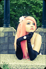 ChiaraScuro_Luka-30 (The Midnight Blues Photography) Tags: park pink flowers anime princess cosplay lace chiarascuro satin pinkhair luka classy vocaloids megurineluka