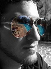 5-4-11 (mkrumm1023) Tags: reflection pool sunglasses