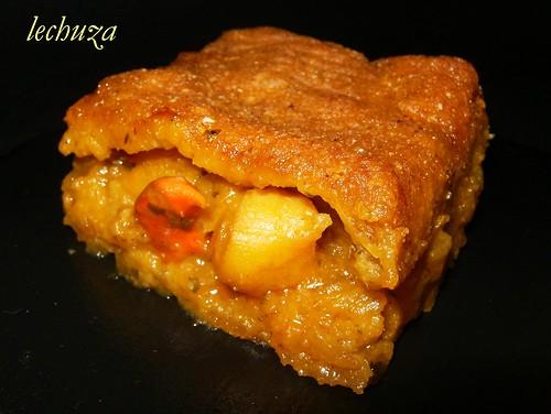 Empanada maiz de zamburiñas-detalle