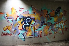 Herz blue neon, session with Q-Turbo (Herzoleum) Tags: abandoned skyline writing painting underground graffiti paint neon decay letters demolition urbanexploration mta neonsign nes piece herz spraycan mvp otb tds graffitiwall tpa herzo colorpiece 2011 spuitbus xts graffiticanvas oldschoolstyle thedeathsquad badinc herz1 nescrew mtacrew frunch umxs madtransitartists oldschoolstijl mvpwall herzone crosstownstatic kleurenpiece