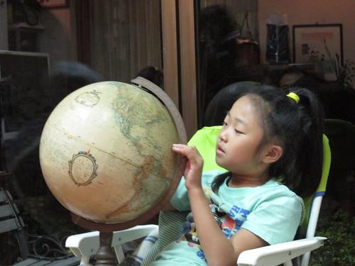 Explication de mon tour du monde en japonais, vers Nagoya, Japon