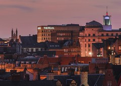 The Pearl (LaurenClayton) Tags: amateurphotographer nikond5100 nikon view civiccentre cathedral rooftops skyline sunset newcastleupontyne newcastle thepearl