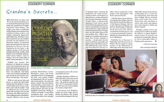 Food festival on Vegetarian cookbook on andhra recipes