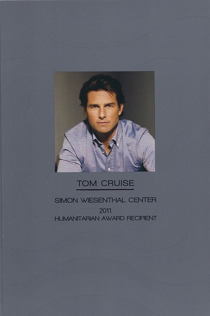 Simon Wiesenthal Center Honors Tom Cruise for 2011 Humanitarian Award