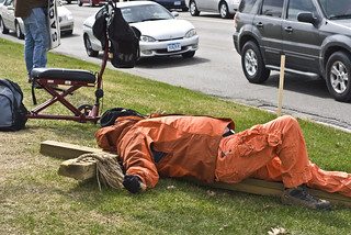 Anti-Torture Vigil - Week 42: Bob on the Cross