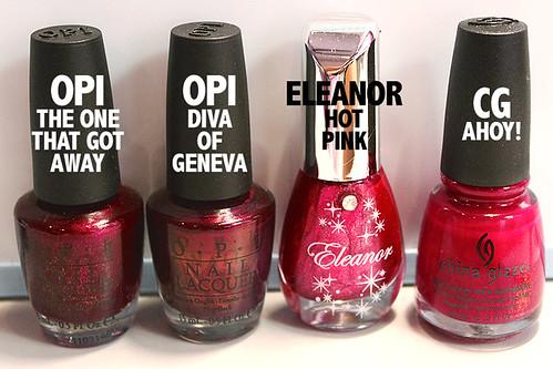 Hot Pink comparison