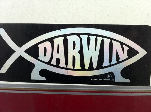 Darwin evolution symbol: fish with legs by Ben Sutherland, on Flickr