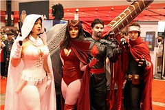 Ghost, Scarlet Witch, Mister Sinister, Wiccan (BelleChere) Tags: chicago costume comic cosplay ghost marvel wiccan darkhorse scarletwitch c2e2 mistersinister