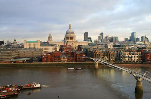 Vista panoramica Londra da tate modern