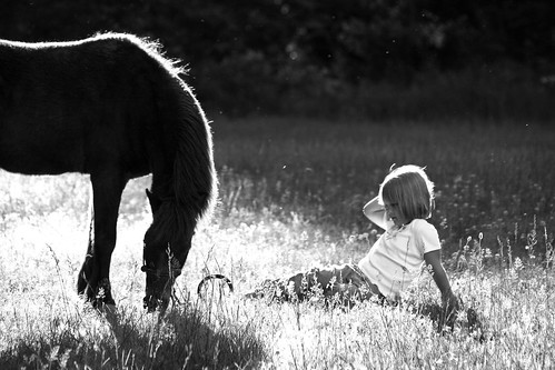 A girl and her pony...